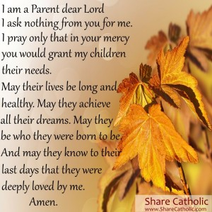 A Parent's Prayer!