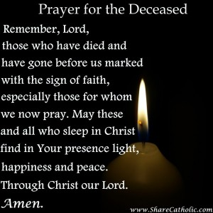 Prayer for the Holy Souls in Purgatory