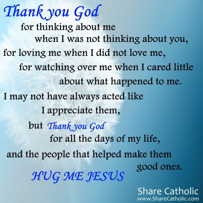 appreciation of thank you god