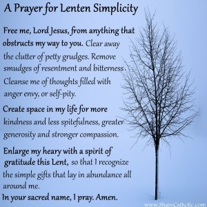 Prayer for Lenten Simplicity
