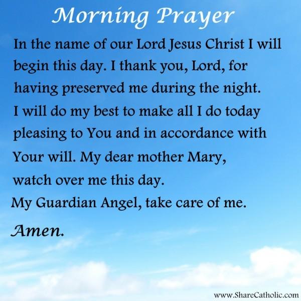 Good Morning Prayer For You : Morning prayer