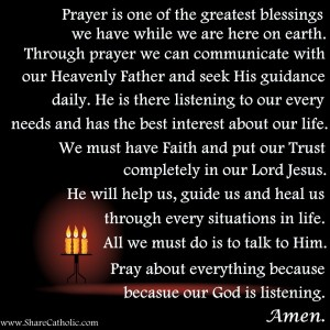 Prayer is one of the greatest blessings