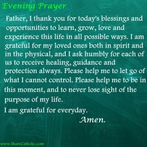 An Evening Prayer