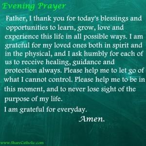 An Evening Prayer