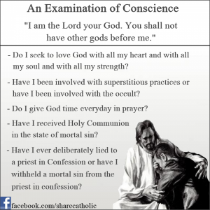 An Examination of Conscience – The First Commandment