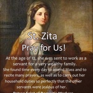 St. Zita (Feast Day – April 27th)