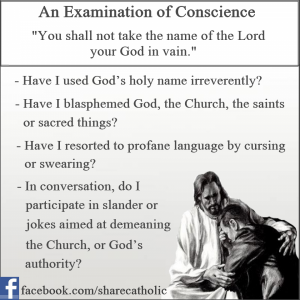 An Examination of Conscience – The Second Commandment