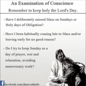An Examination of Conscience – The Third Commandment