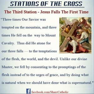 The Third Station – Jesus Falls the First time