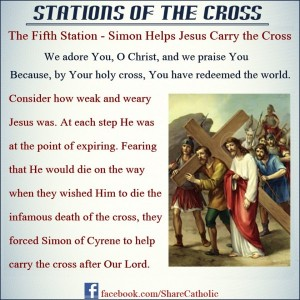 The Fifth Station – Simon Helps Jesus Carry the Cross