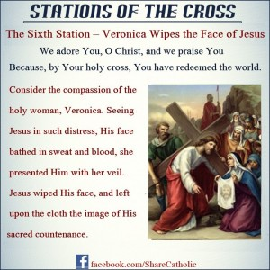 The Sixth Station – Veronica Wipes the Face of Jesus