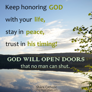 God will open doors that no man can shut