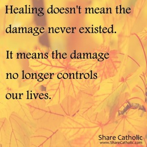 Healing doesn't mean the damage never existed