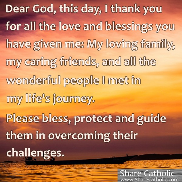 A Prayer To God For Blessing And Protection