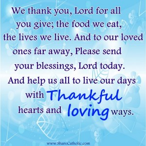 We thank you, Lord for all you give!