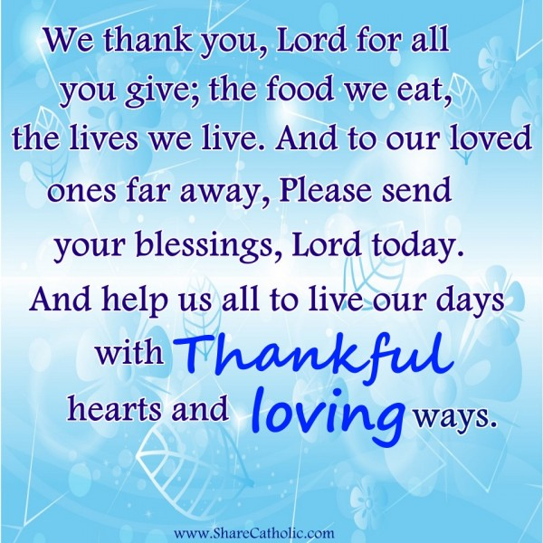 We Thank You Lord For All You Give