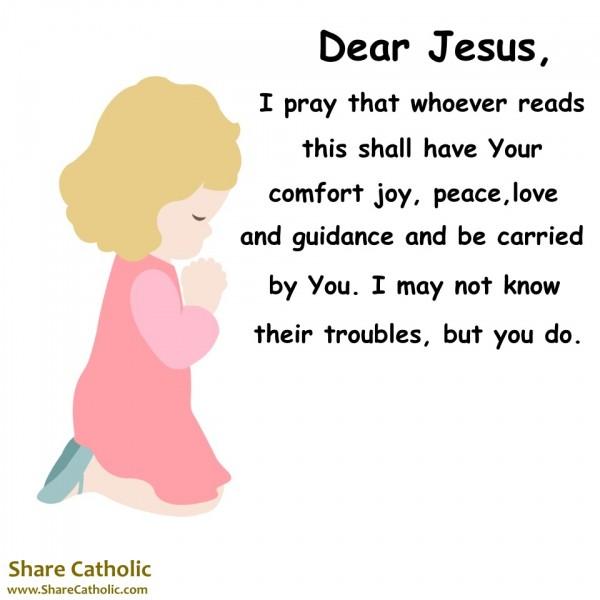 Catholic prayer for comfort