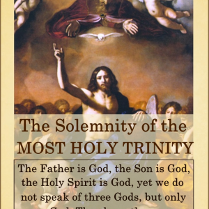 Happy Feast Day of the Most Holy Trinity!