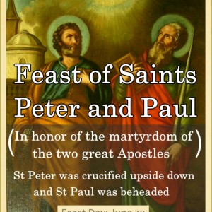 Feast of Saints Peter and Paul (June 29)