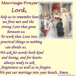 Lord, we put our marriage into your hands