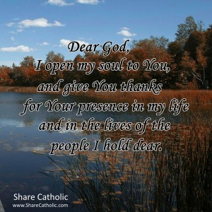 Dear God, thank you for your presence in my life