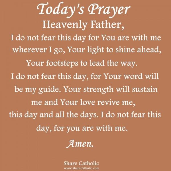 Catholic prayer for fear