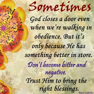 Trust God to bring the right blessings in your life