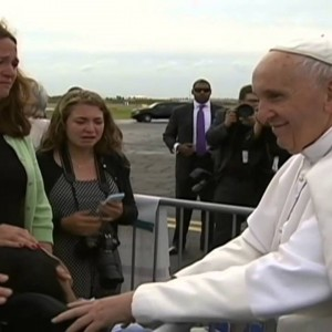 Must-see: Pope orders car to stop to bless boy with cerebral palsy