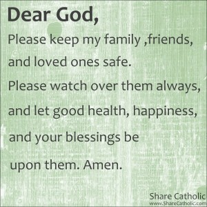 Prayer for my family and friends
