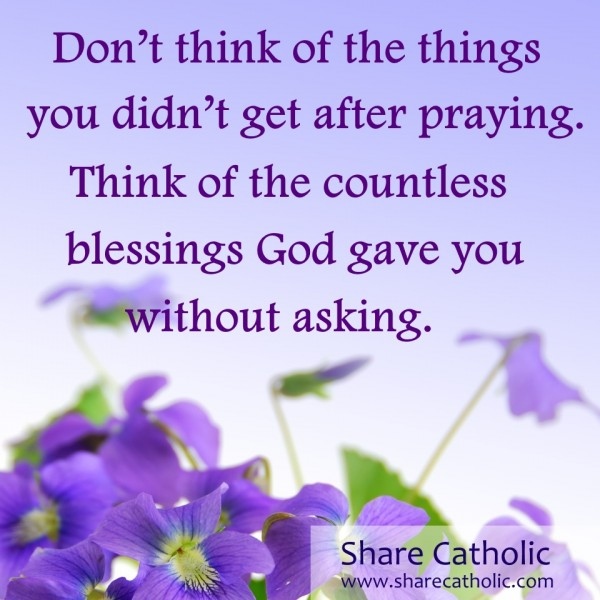 Thank You Lord For Your Countless Blessings