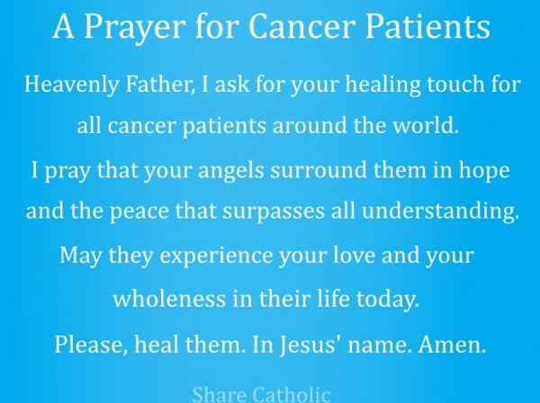 Catholic healing prayer for a loved one