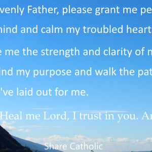 A Prayer in times of stress and anxiety
