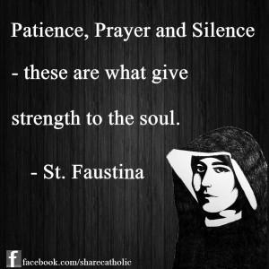 St. Faustina Kowalska Quote