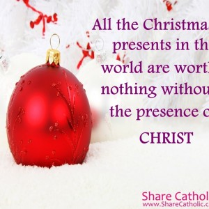 Christmas is not about the presents