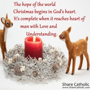 Christmas begins in God's heart