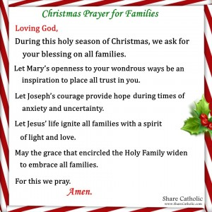 Christmas prayer for families
