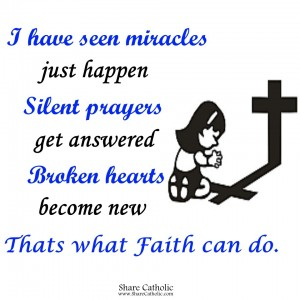 Worry ends, when FAITH in God begins!