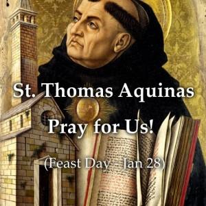 St. Thomas Aquinas (Feast Day – Jan 28)