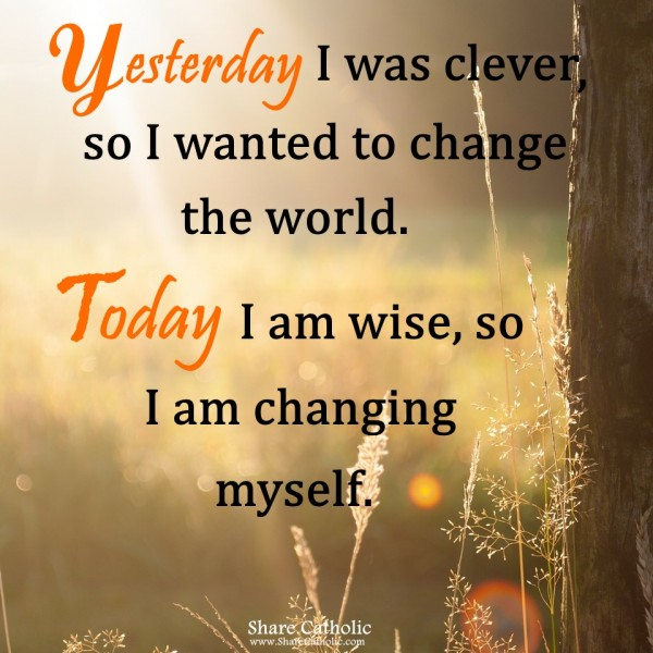 Change The World Change Yourself Quote: When Life Changes To Be Harder, Change Yourself To Be Stronger