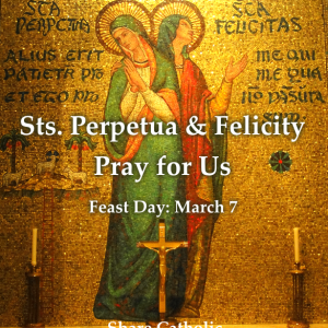 Sts. Perpetua and Felicity (Feast Day – March 7)