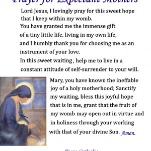 Prayer for Expectant Mothers