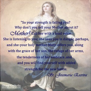 So your strength is failing you? Mother! Call her with a loud voice.