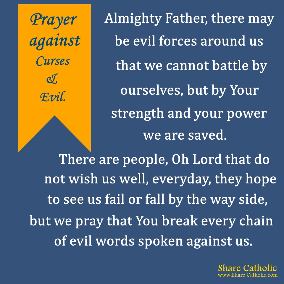 Prayer against Curses and Evil