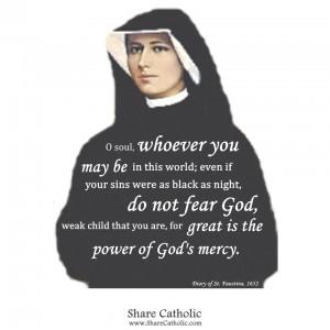 Saint M. Faustina Kowalska ( Feast day- October 5th)