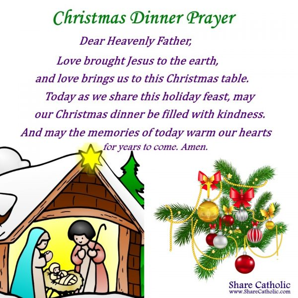 Christmas Dinner Prayer.A Christmas Dinner Prayer