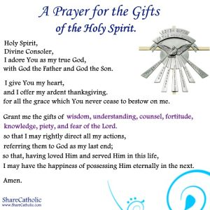 A Prayer for the Gifts of the Holy Spirit
