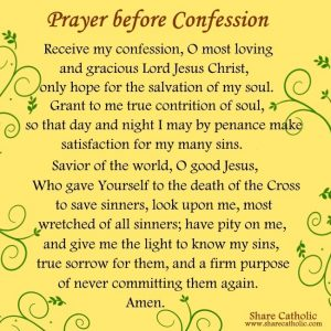 A Prayer before Confession