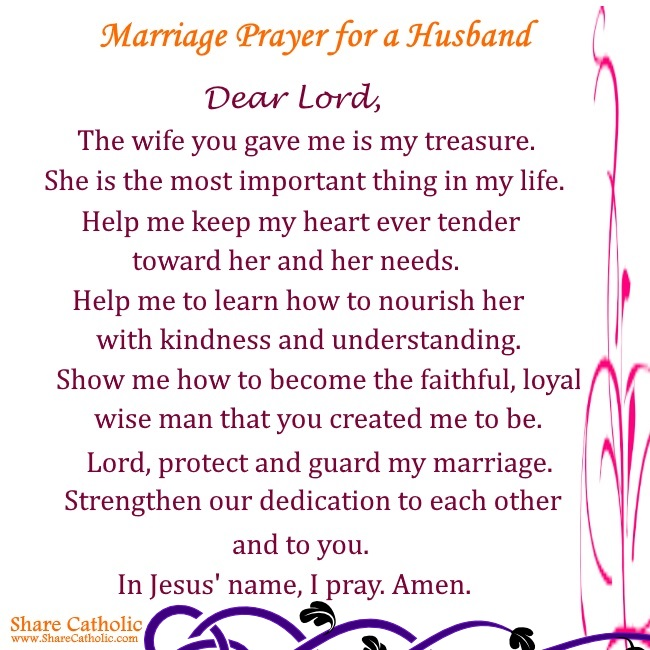 prayers for husband and marriage