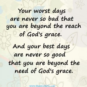 God's grace is all we need