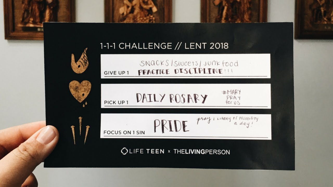 Have you Taken the Awesome 1-1-1 Lenten Challenge?